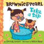 Brownie and Pearl take a dip